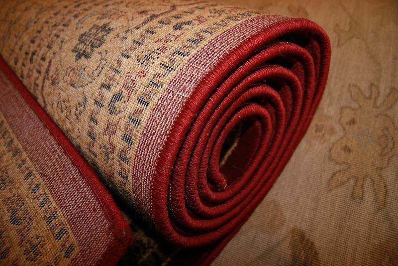carpet runner rolled up